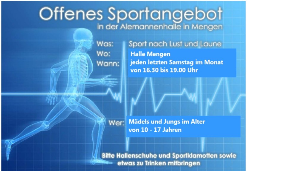offenes sportangebot